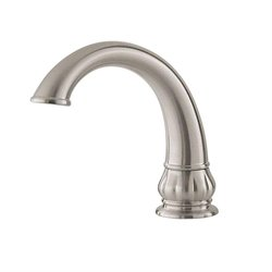 Treviso 2-Handle Deck Mount Roman Tub Faucet Trim Kit in Brushed Nickel (Valve and Handles Not Included)