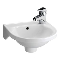 Rosanna Wall-Mounted Bathroom Sink in White