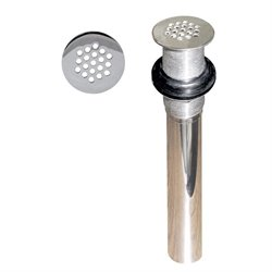 Grid Strainer Lavatory Drain without Overflow Holes in Polished Chrome