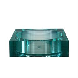 Segment Vessel Sink in Clear/Aqua