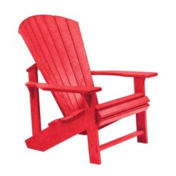 CR Plastic Generations Adirondack Chair in Red