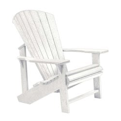 CR Plastic Generations Adirondack Chair in White