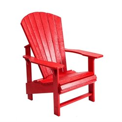 CR Plastic Generations Upright Adirondack Chair in Red