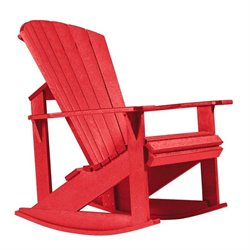 CR Plastic Generations Adirondack Rocking Chair in Red