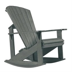 CR Plastic Generations Adirondack Rocking Chair in Slate Gray