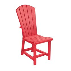 CR Plastic Generations Adirondack Patio Dining Chair in Red