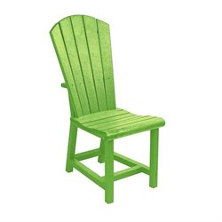 CR Plastic Generations Adirondack Patio Dining Chair in Kiwi Lime