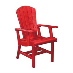 CR Plastic Generations Adirondack Patio Dining Arm Chair in Red