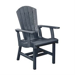 CR Plastic Generations Adirondack Patio Dining Arm Chair in Gray