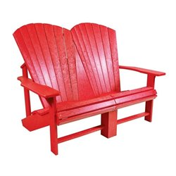 CR Plastic Generations Adirondack Loveseat in Red