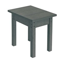 CR Plastic Generations Patio Side Table in Slate Gray