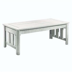 CR Plastic Stratford Patio Coffee Table in White