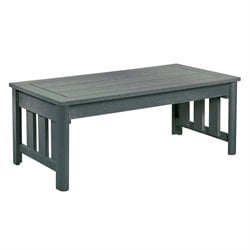 CR Plastic Stratford Patio Coffee Table in Slate Gray