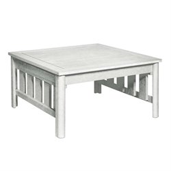 CR Plastic Stratford Square Patio Coffee Table in White