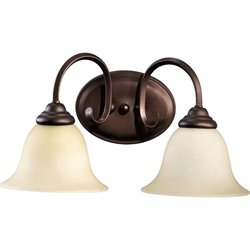 Quorum Spencer 2 Light Vanity in Oiled Bronze