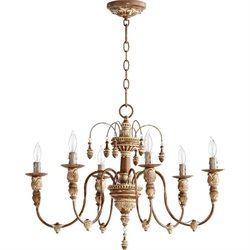 Quorum Salento 6 Light Up Chandelier in French Umber