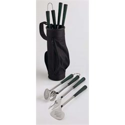 Design Imports Golf Bag and Clubs Barbecue Tool Set