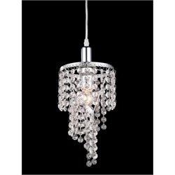 Z-Lite 1 Light Mini Chandelier in Chrome