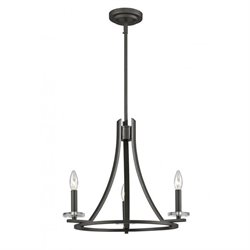 Z-Lite Verona 3 Light Chandelier in Bronze