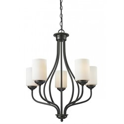 Z-Lite Cardinal 5 Light Chandelier in Olde Bronze