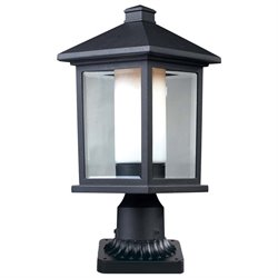 Z-Lite Mesa Outdoor Pier Mount Light in Black