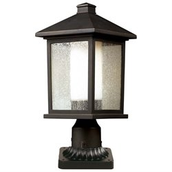 Z-Lite Mesa Outdoor Pier Mount Light in Oil Rubbed Bronze