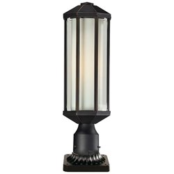 Z-Lite Cylex Outdoor Pier Mount Light in Oil Rubbed Bronze