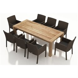 Harmonia Living Arden 9 Piece Patio Dining Set in Canvas Charcoal
