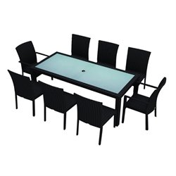 Harmonia Living Urbana 9 Piece Patio Dining Set