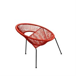 Harmonia Living Acapulco Patio Dining Chair in Atomic Tangerine