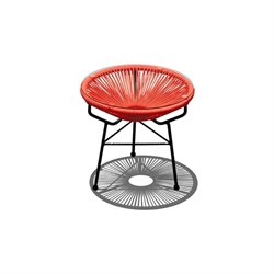 Harmonia Living Acapulco Patio End Table in Atomic Tangerine