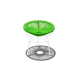 Harmonia Living Acapulco Patio End Table in Lime Green and White
