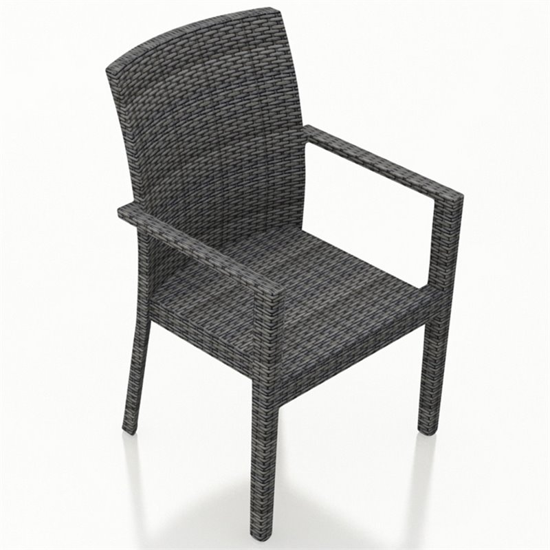 Harmonia Living District Patio Dining Arm Chair in Slate