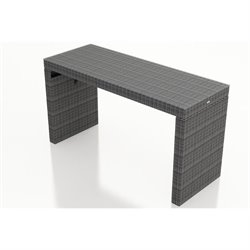 Harmonia Living District Patio Pub Table in Textured Slate