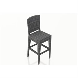 Harmonia Living District Patio Bar Stool in Textured Slate