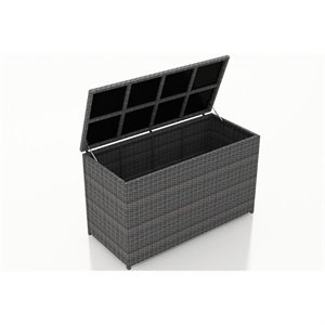 Harmonia Living District Deck Box in Textured Slate
