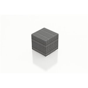 Harmonia Living District Cube Patio End Table in Textured Slate