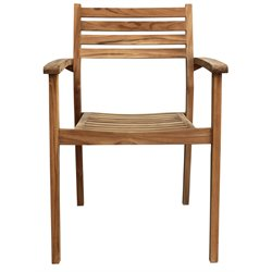 Harmonia Living Sylvan Patio Dining Arm Chair in Teak