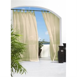 Commonwealth Outdoor Decor Escape Tab Curtain Panel 2