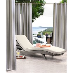 Commonwealth Gazebo Outdoor Grommet Curtain Panel in Black Gray