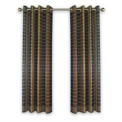 Versailles Bamboo Wood Curtain Panel With Grommets in Multi