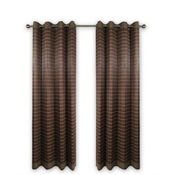 Versailles Bamboo Wood Curtain Panel With Grommets in Walnut