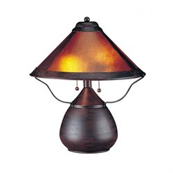 Cal Lighting Metal Table Lamp in Rust