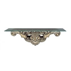 Cal Lighting Wall Mount Console Table in Antique Silver