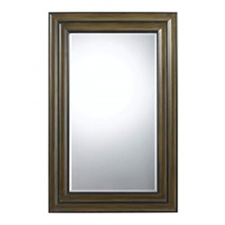 Cal Lighting Poly Urethane Mirror in Mahogany