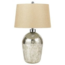 Cal Lighting Glass Table Lamp in Antique Mirror