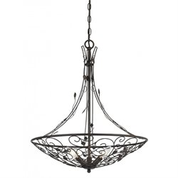Cal Lighting Metal Chandelier in Iron Rust