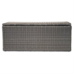 Patio Heaven Palisades Storage Bench in Gray
