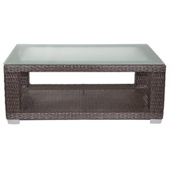 Patio Heaven Signature Patio Coffee Table in Espresso