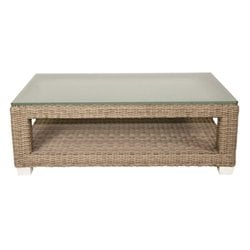 Patio Heaven Palisades Patio Coffee Table in Gray
